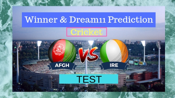 Afghanistan vs Ireland Only Test Test