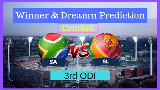 South Africa vs Sri Lanka 3rd ODI ODI