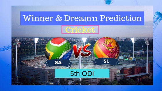 South Africa vs Sri Lanka 5th ODI ODI