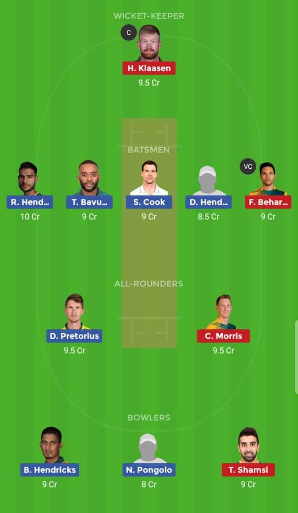 Titans vs Highveld Lions 27th ODI ODI
