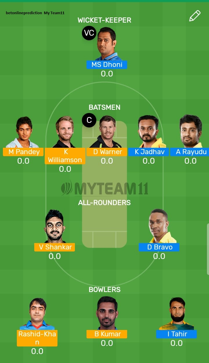 Chennai Super Kings vs Sunrisers Hyderabad 41st T20 Indian Premier League 2019