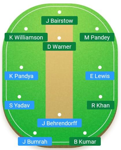 Sunrisers Hyderabad vs Mumbai Indians 19th T20 Indian Premier League 2019