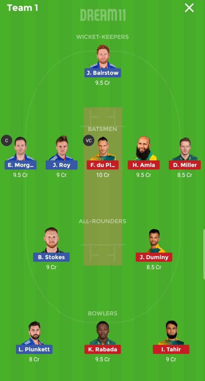 England vs South Africa 1st ODI ICC Cricket World Cup