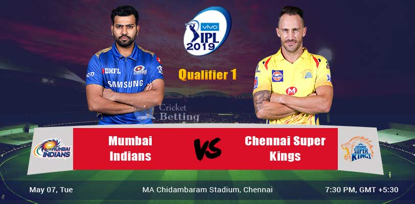 Mumbai Indians vs Chennai Super Kings Qualifier 1 Indian Premier League 2019