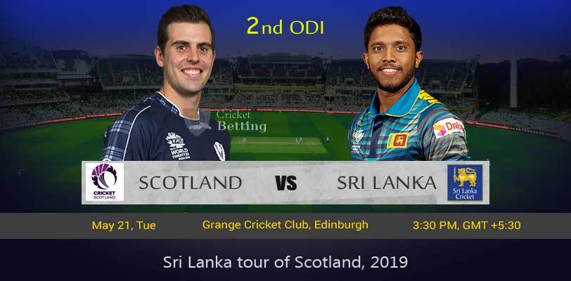 Scotland vs Sri Lanka 2nd ODI SL Tour SCO