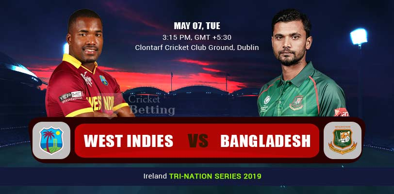 West Indies vs Bangladesh 2nd ODI WI v BAN in Ireland Tri-Series 2019