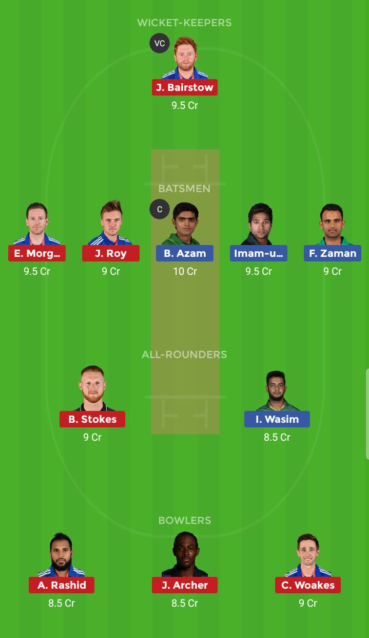 England vs Pakistan 6th ODI ICC Cricket World Cup