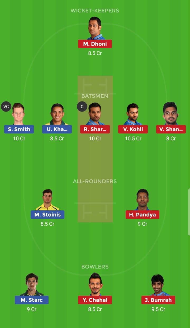 India vs Australia 14th ODI ICC Cricket World Cup