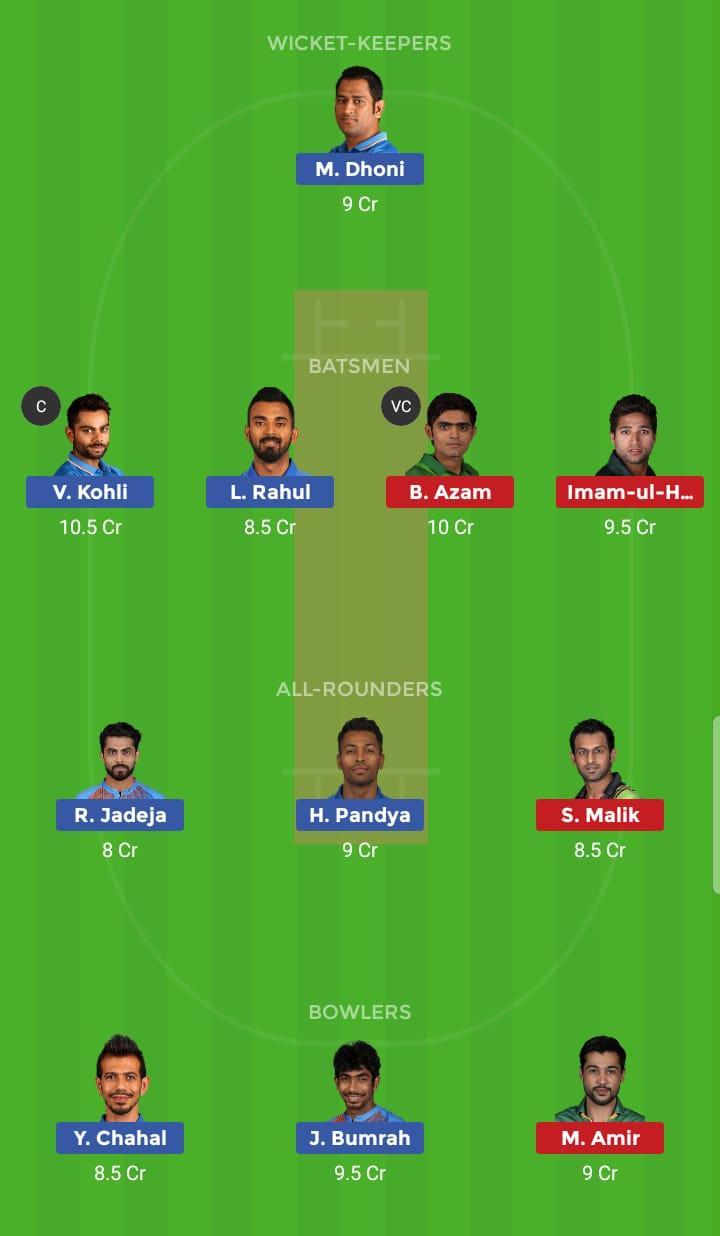 India vs Pakistan 22th ODI ICC Cricket World Cup