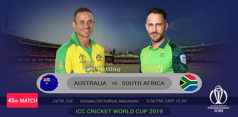 Australia vs South Africa 45th ODI ICC Cricket World Cup