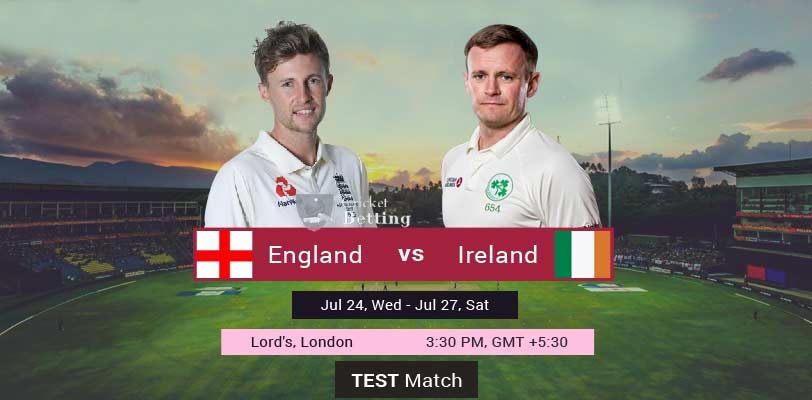 England vs Ireland Only Test IRE Tour of ENG