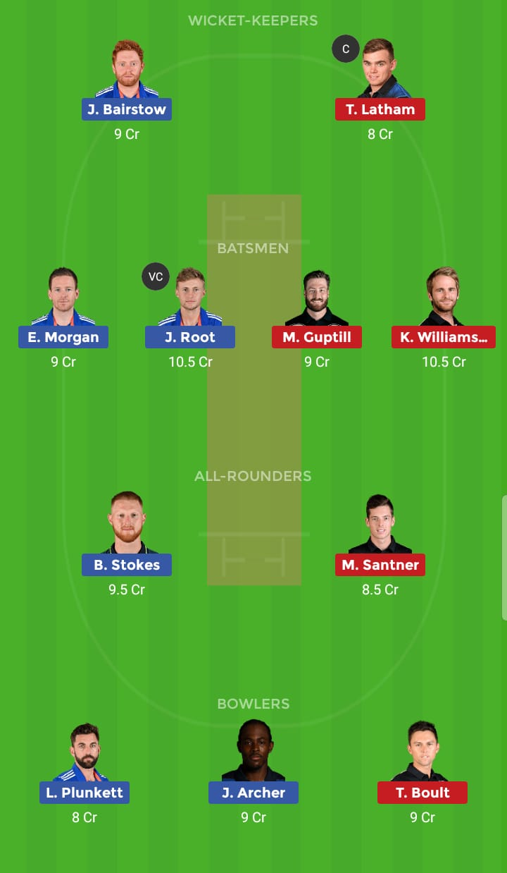England vs New Zealand 41th ODI ICC Cricket World Cup