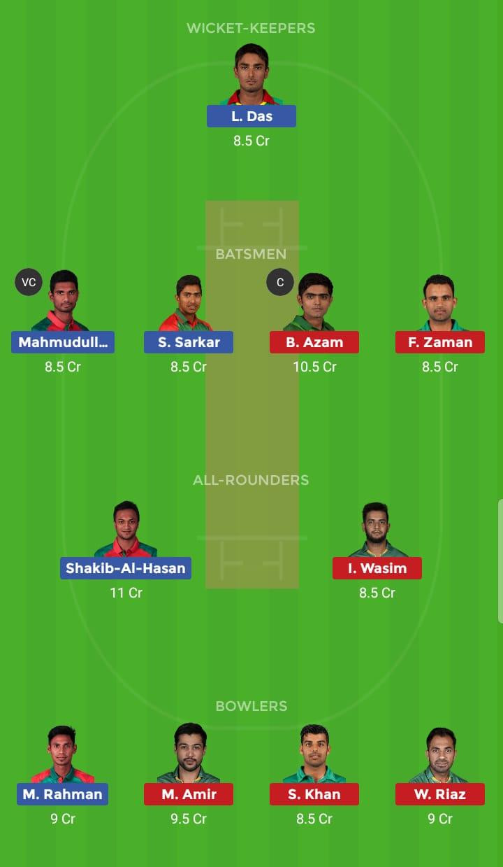 Pakistan vs Bangladesh 43rd ODI ICC Cricket World Cup