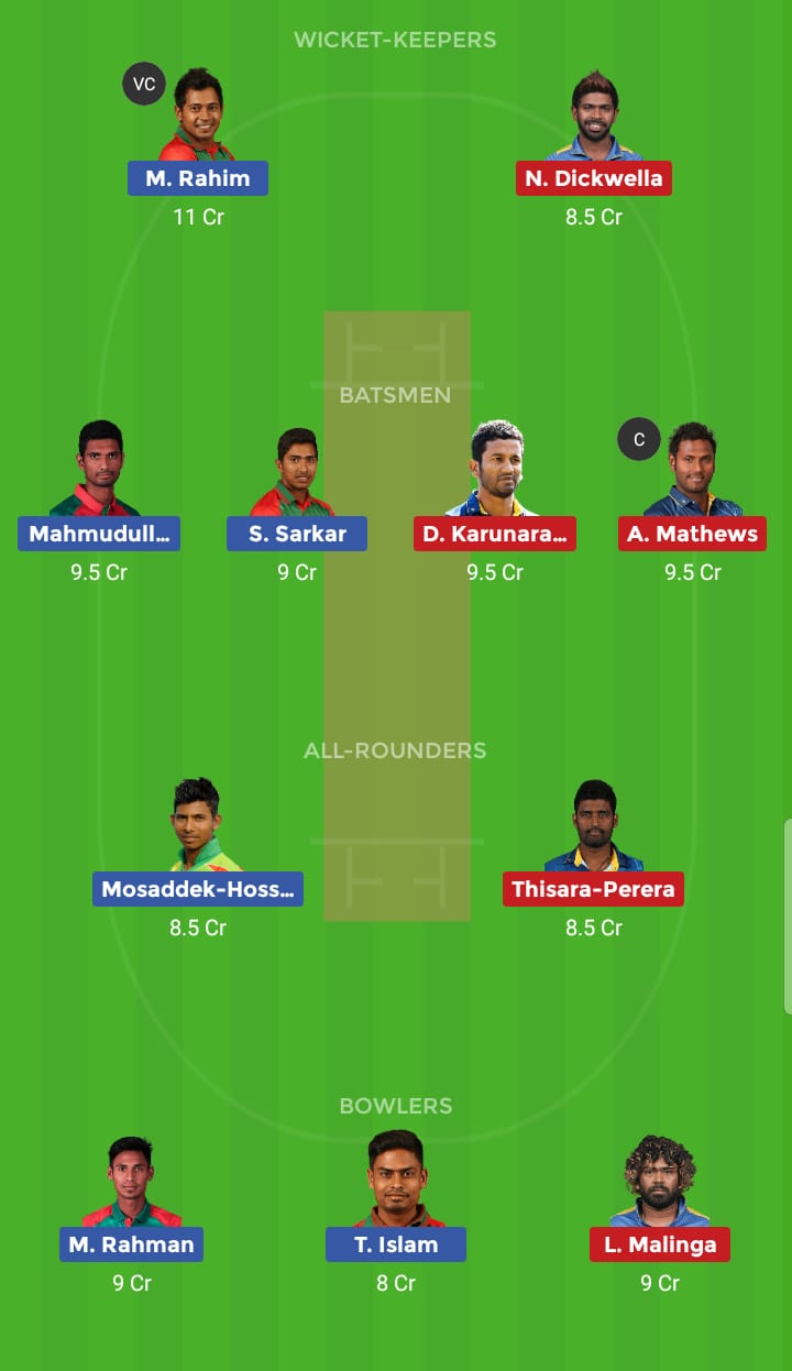 Sri Lanka vs Bangladesh 1st ODI BAN Tour SL