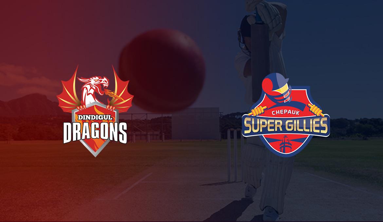 Dindigul Dragons vs Chepauk Super Gillies 1st T20 Tamil Nadu Premier Lague