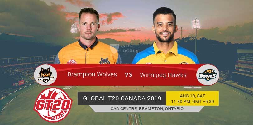 Brampton Wolves vs Winnipeg Hawks Qualifier 2 T20 Global T20 Canada