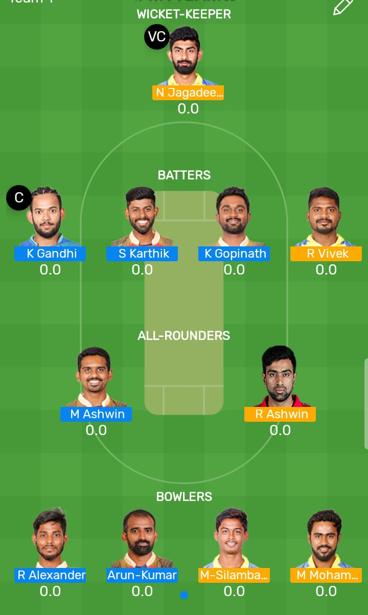 Dindigul Dragons vs Chepauk Super Gillies Qualifier 1 T20 TNPL