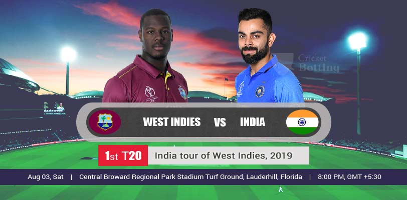 Windies vs India 1st T20 IND Tour WI