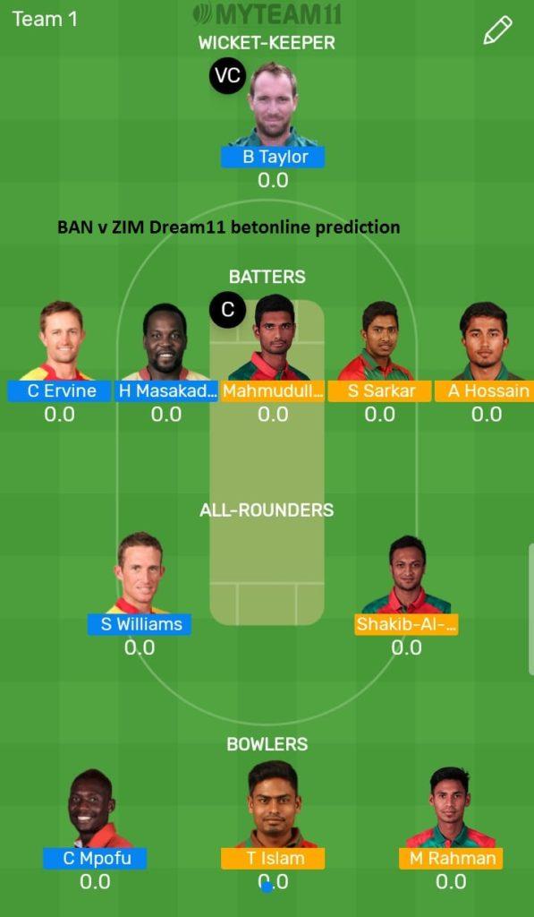 Bangladesh vs zimbabwe Tri-Series
