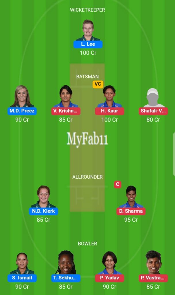 India Women vs South Africa Women RSA Tour IND