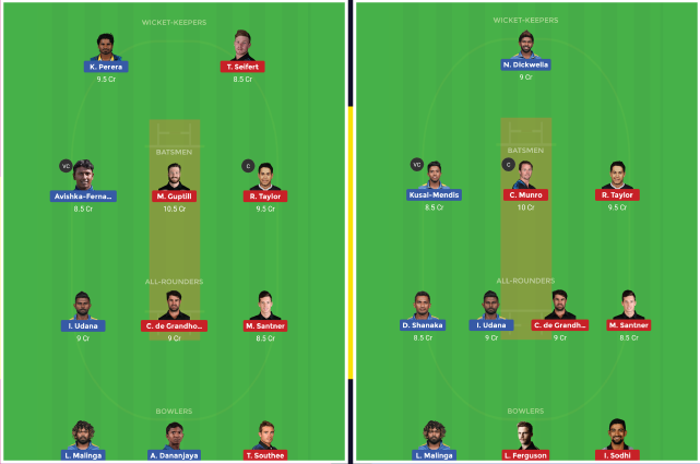 Sri Lanka vs New Zealand NZ Tour SL