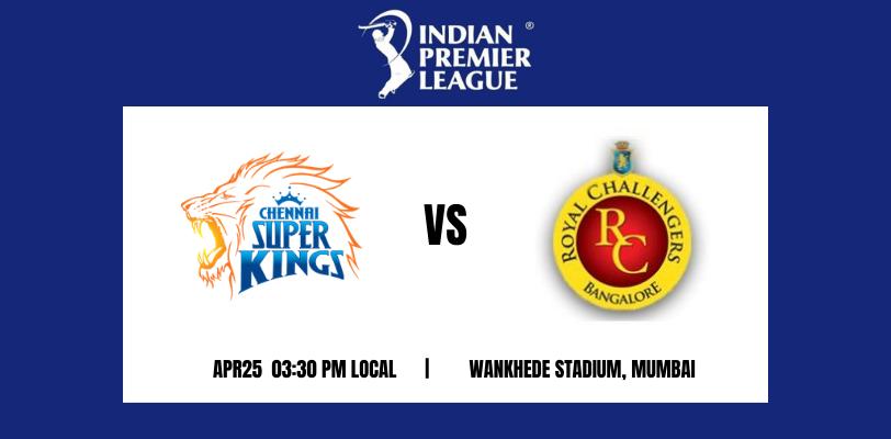 Chennai Super Kings vs Royal Challengers Bangalore 19th T20 IPL 2021