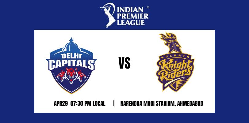 Delhi Capitals vs Kolkata Knight Riders 25th T20 IPL 2021