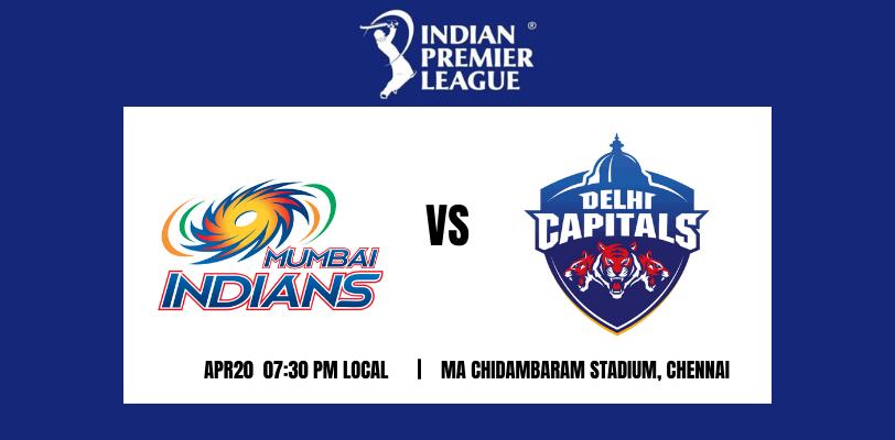 Delhi Capitals vs Mumbai Indians 13th T20 IPL 2021