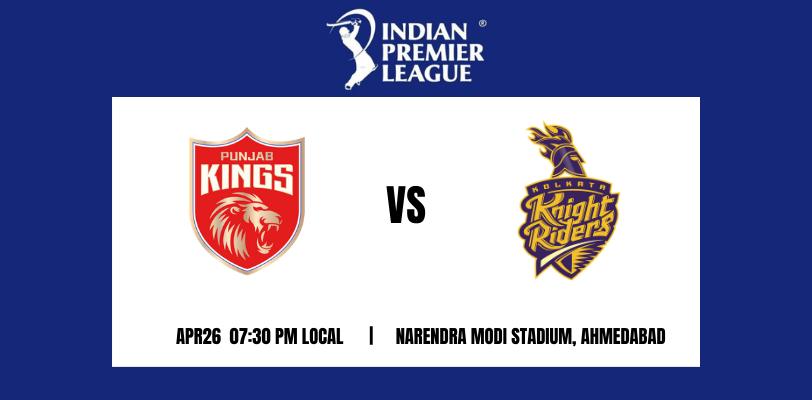 Punjab Kings vs Kolkata Knight Riders 21th T20 IPL 2021