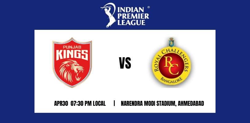 Punjab Kings vs Royal Challengers Bangalore 26th T20 IPL 2021
