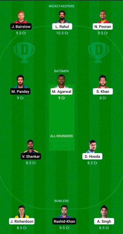 Punjab Kings vs Sunrisers Hyderabad 14th T20 IPL 2021