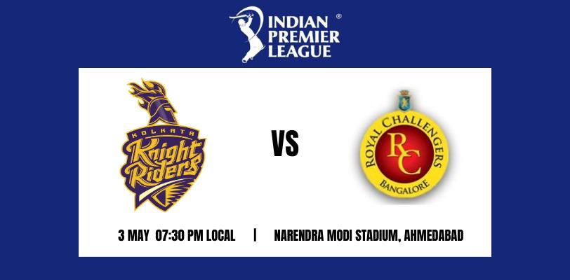 Kolkata Knight Riders vs Royal Challengers Bangalore 30th T20 IPL 2021
