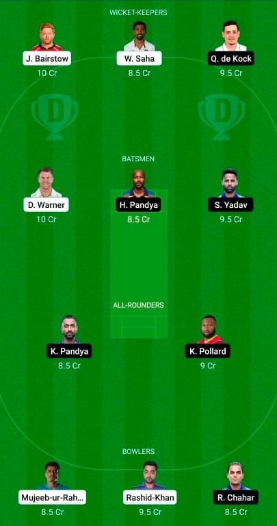 Sunrisers Hyderabad vs Mumbai Indians 31st T20 IPL 2021